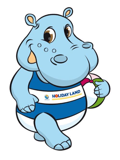 hipopótamo en traje de baño