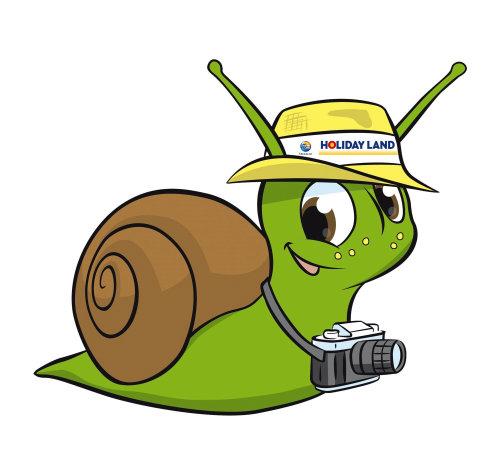 Turista de caracol en movimiento