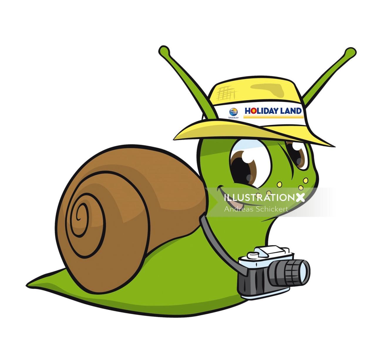Snail tourist on the go