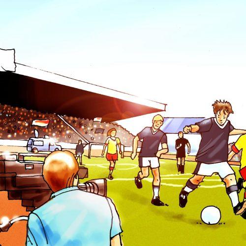 Children football event