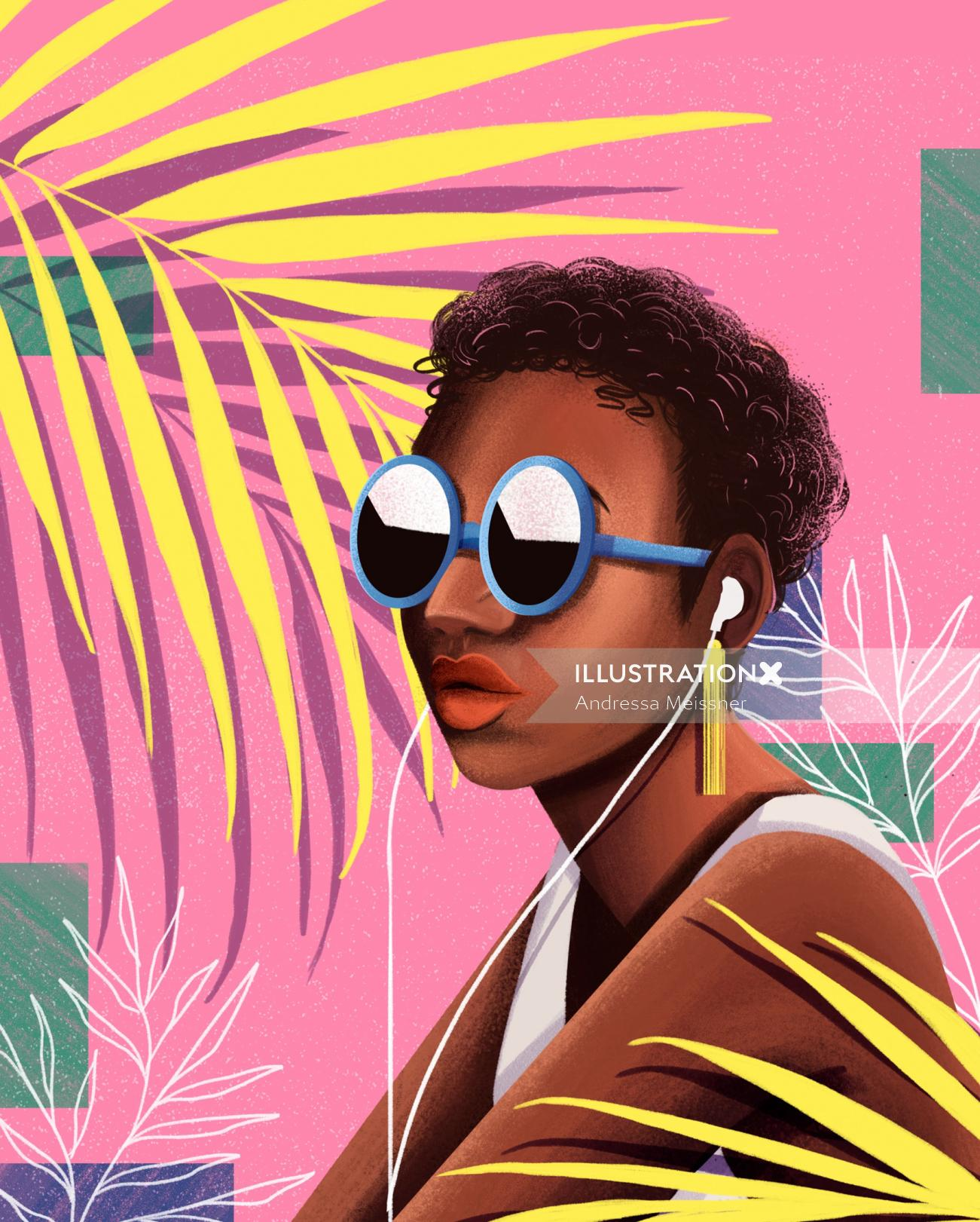 Fashion woman portrait for 2020 Calendar