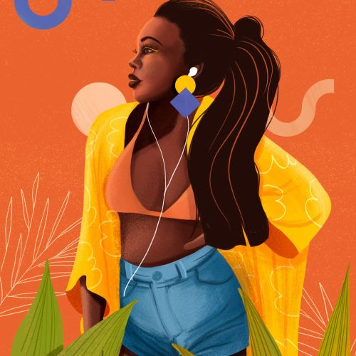 Girl midriff illustration by Andressa Meissner