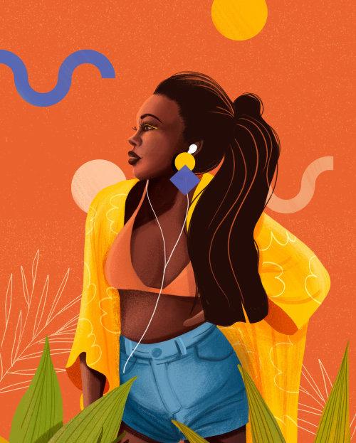 Ilustración de cintura de niña por Andressa Meissner