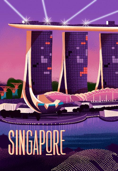 Arquitectura del paisaje de la ciudad de Singapur