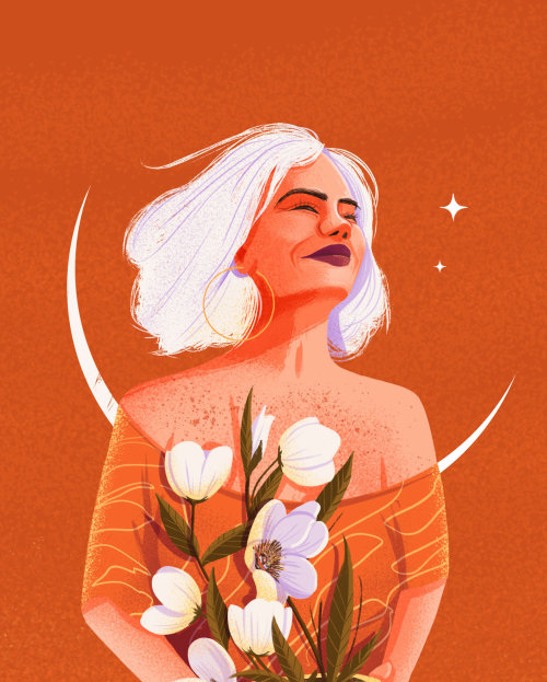 Ilustración de chica de moda para mujeres calendario 2021