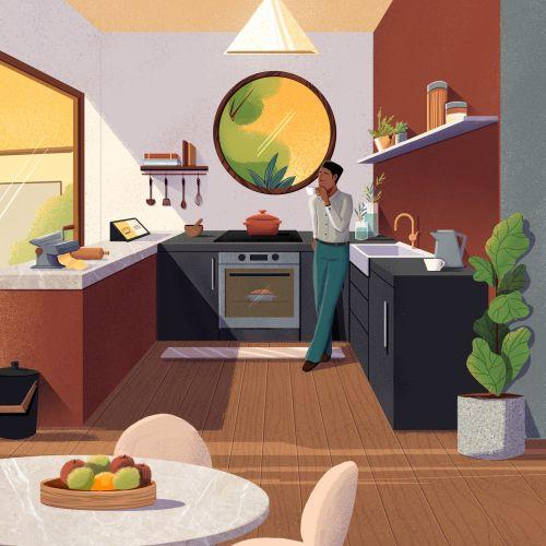 Modern kitchen interiors for  Espaços do Futuro campaign