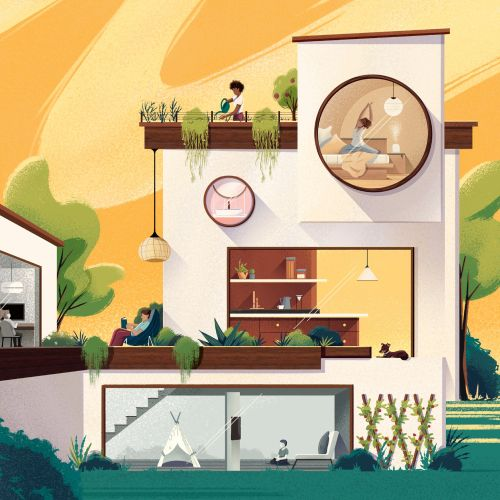 Andressa Meissner Places & Locations Illustrator from Brazil