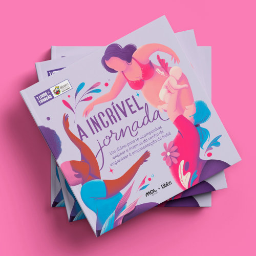 Diseño de portada del libro A Incrível Jornada