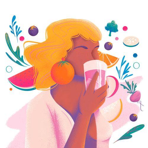 motherhood, breastfeeding, editorial illustration