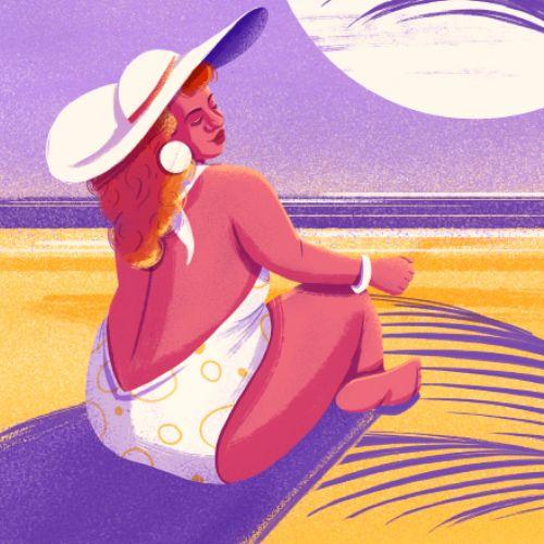 Bikini fashion girl for Female theme calendar