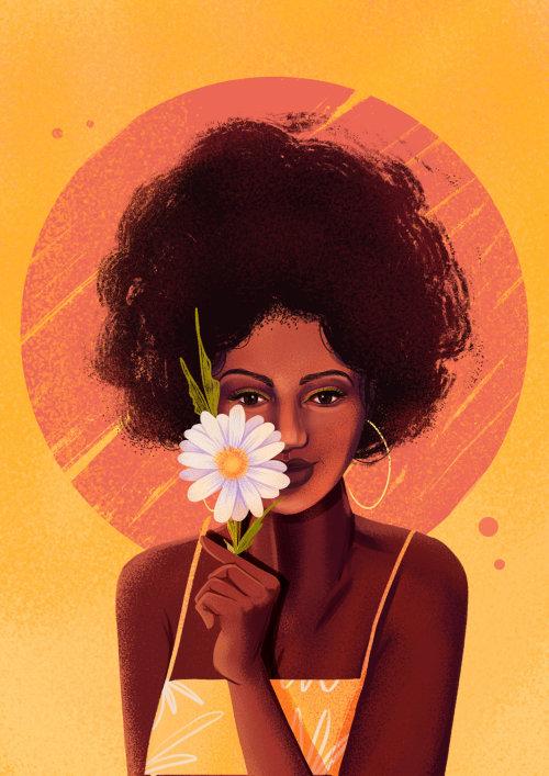 Moda chica negra para mujer calendario 2021