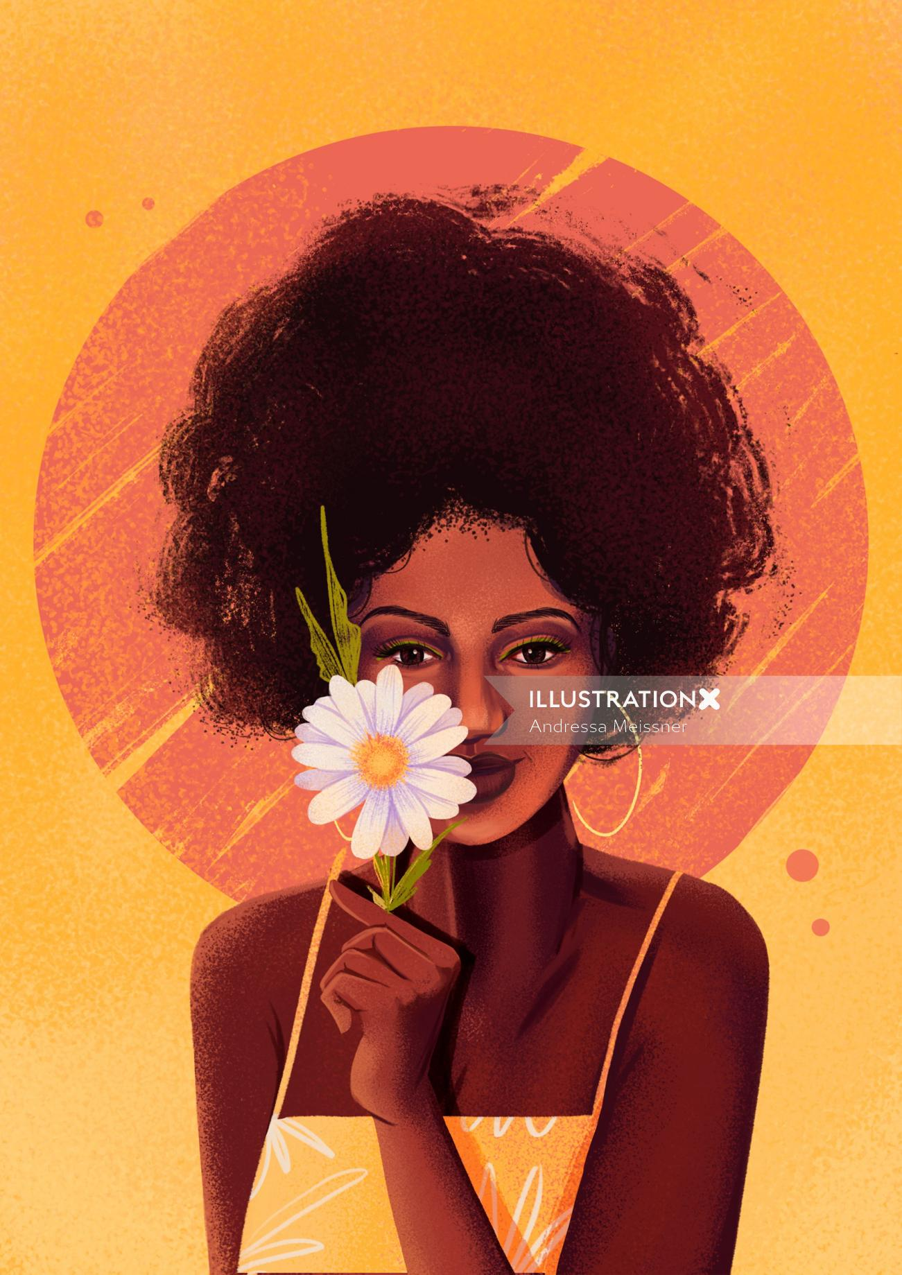 Fashion black girl  for women calendar 2021