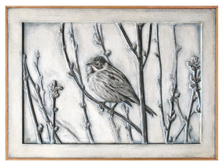 Black and white art of Reed Bunting