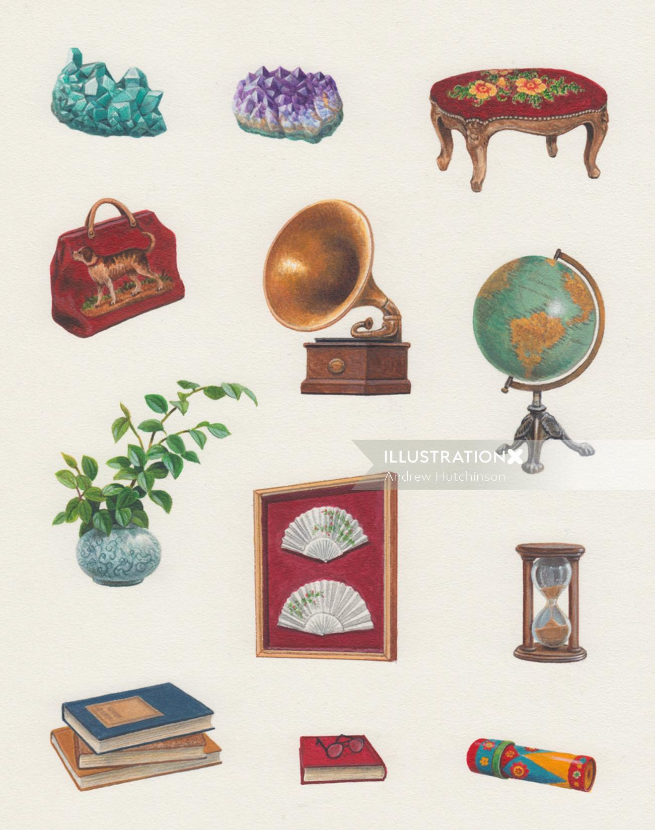 victorian library objects