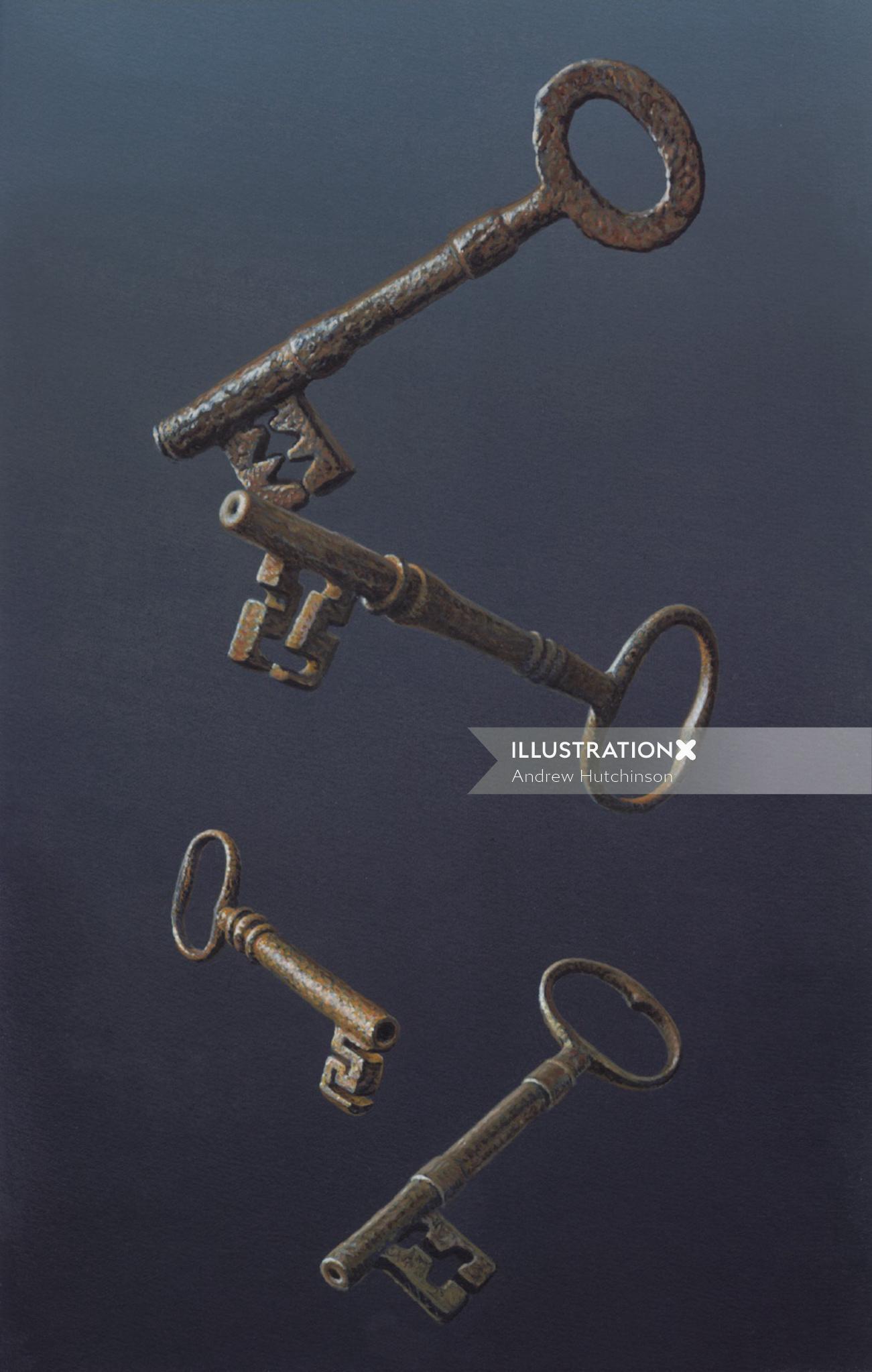 Metal keys illustration by Andrew Hutchinson