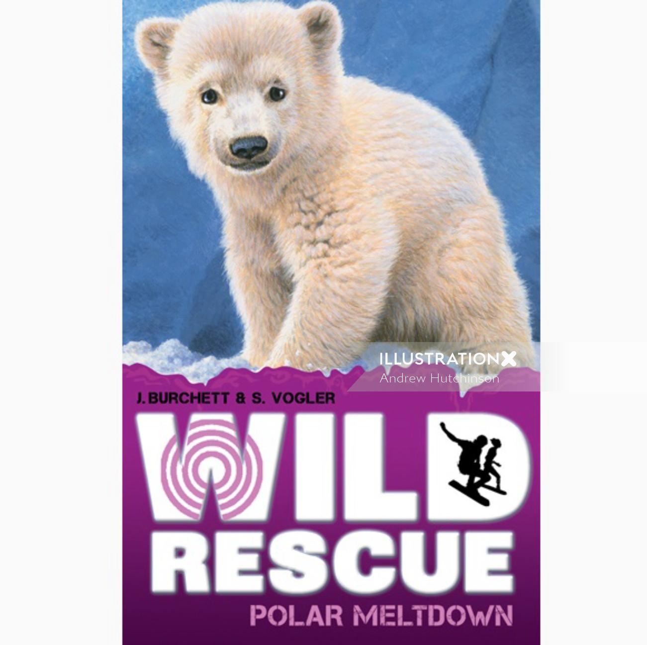 Polar Bear Cub Illustration, Wildlife Images © Andrew Hutchinson