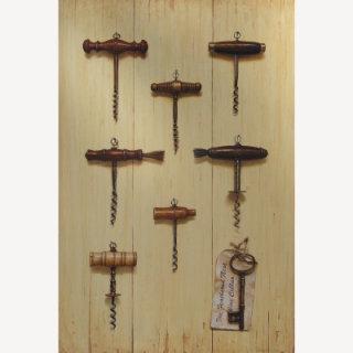 corkscrews illustration, wine opener images © Andrew Hutchinson