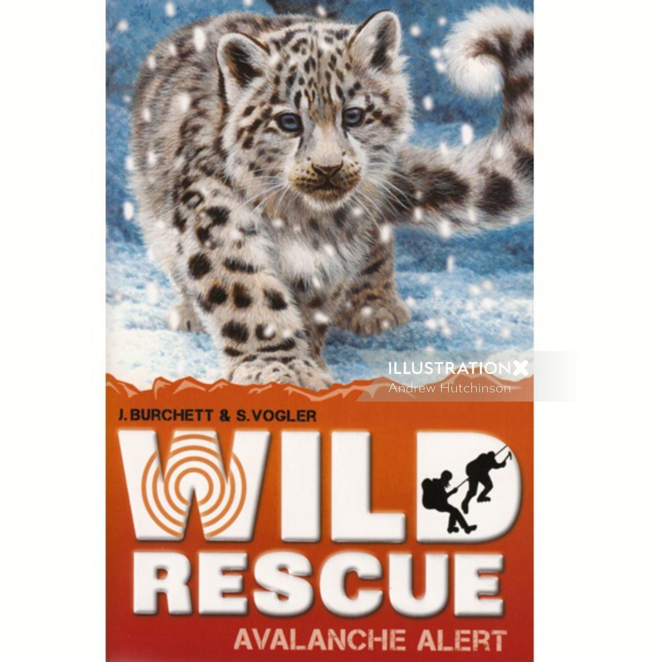Snow Leopard Illustration, Wildlife Images © Andrew Hutchinson