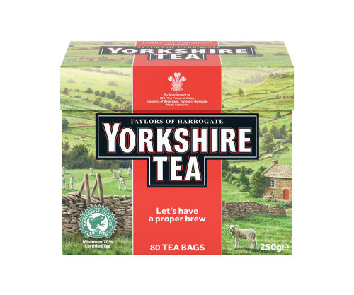 Yorkshire Tea packaging illustration, Countryside Sheep Cottage Images © Andrew Hutchinson