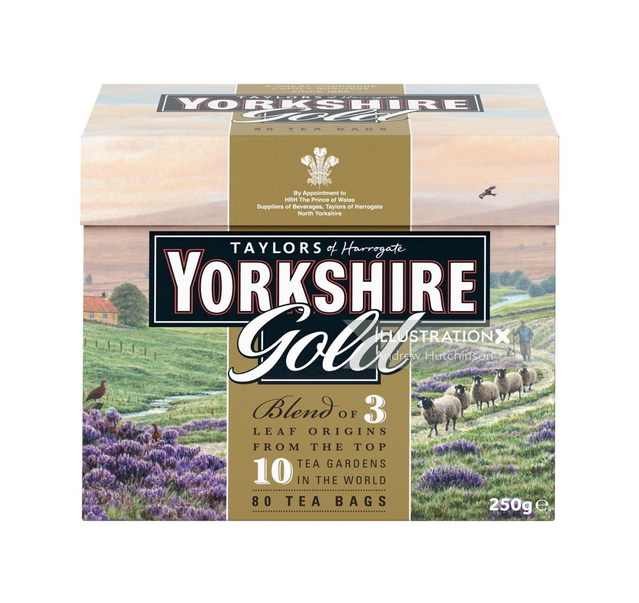 Yorkshire Tea packaging illustration, Farmland Images © Andrew Hutchinson