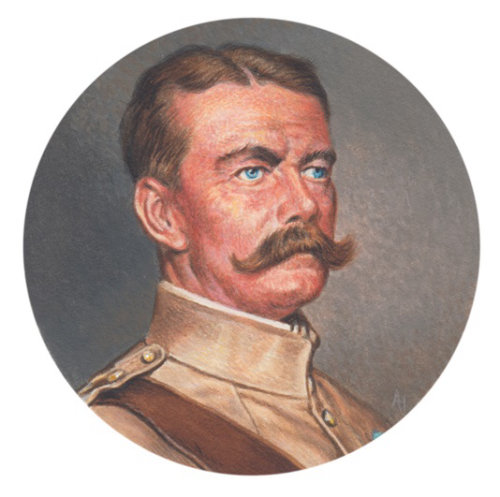 Portrait of kitchener soldier
