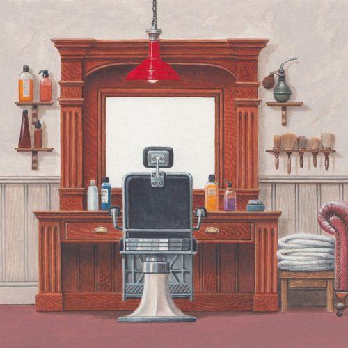Illustration of barbershop interior