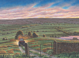 Yorkshire tea farms - Landscape art