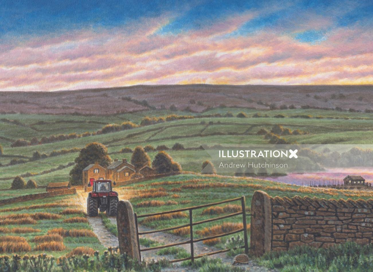 Yorkshire tea farms - Landscape art