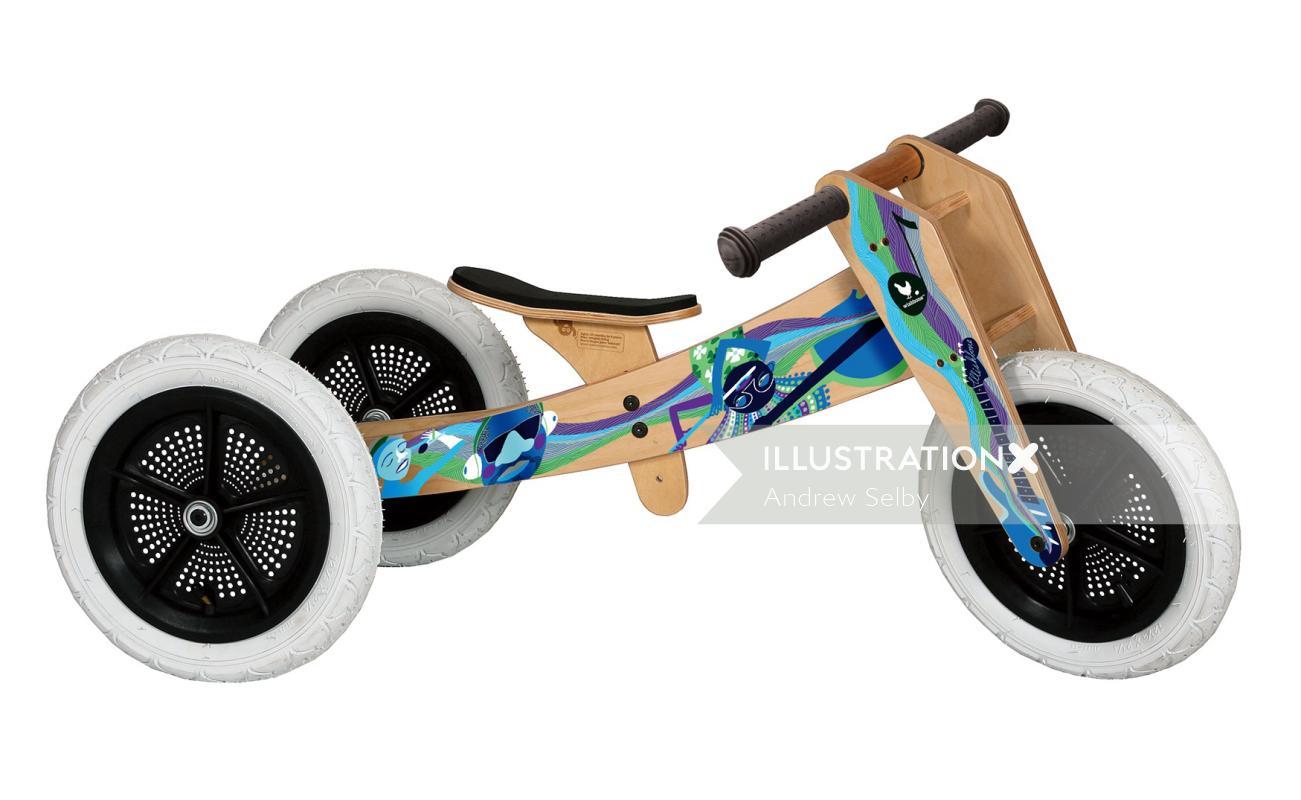 Decorative 3 wheel bike