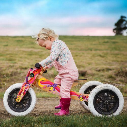 Kid on a music bike