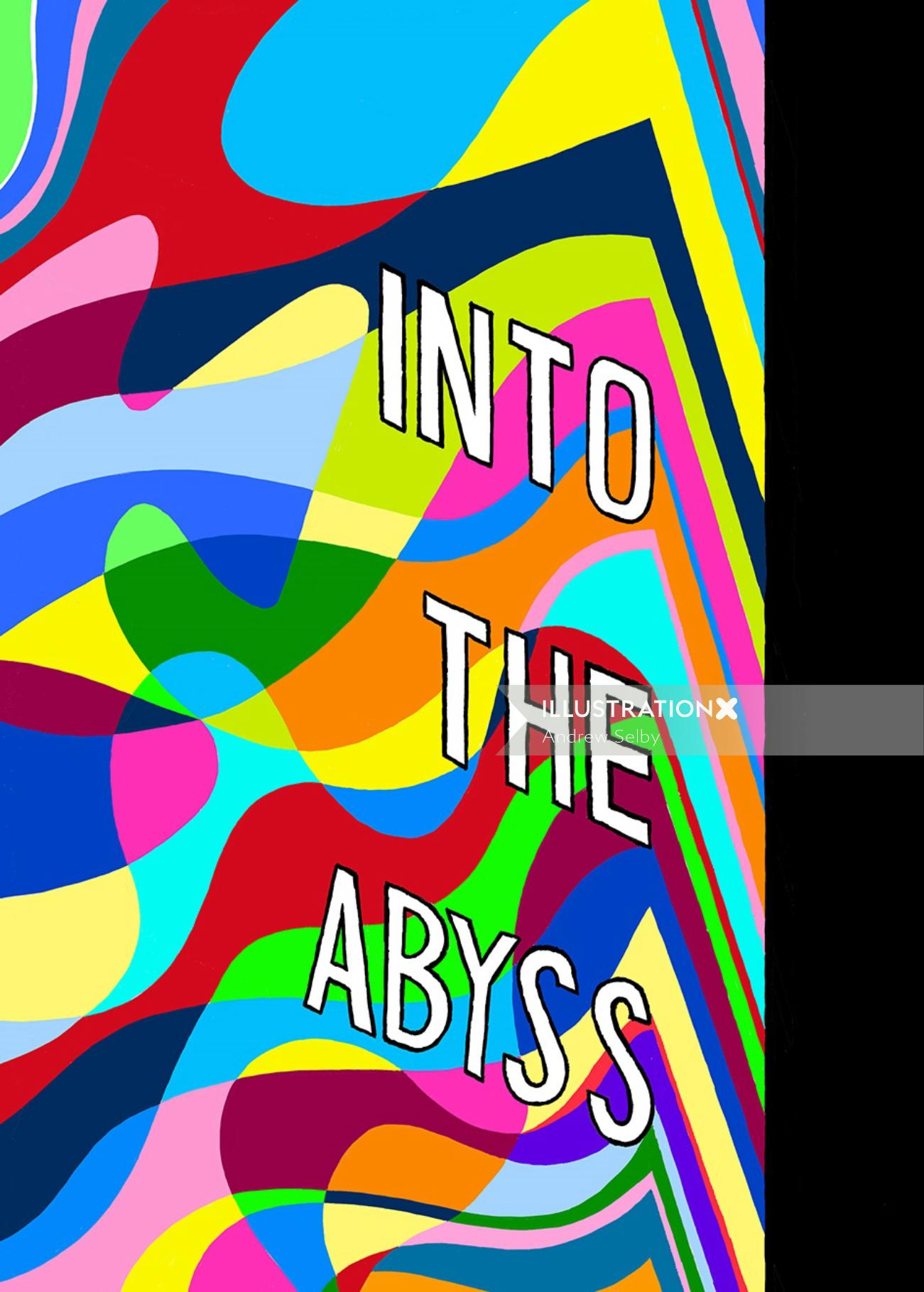 Into the abyss lettering art on book cover
