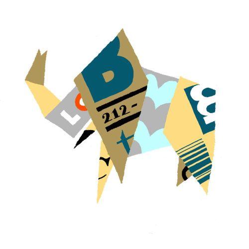 Conceptual art of origami