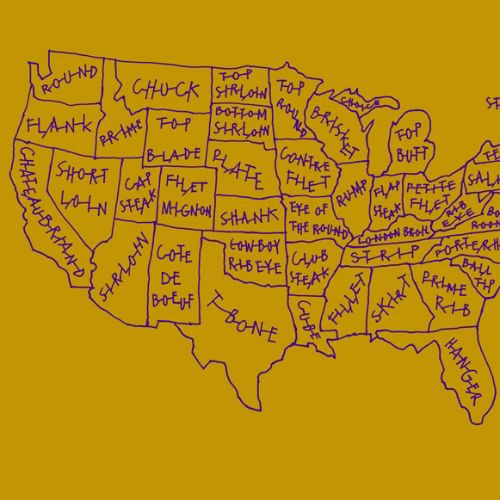 Map of USA for Nestle
