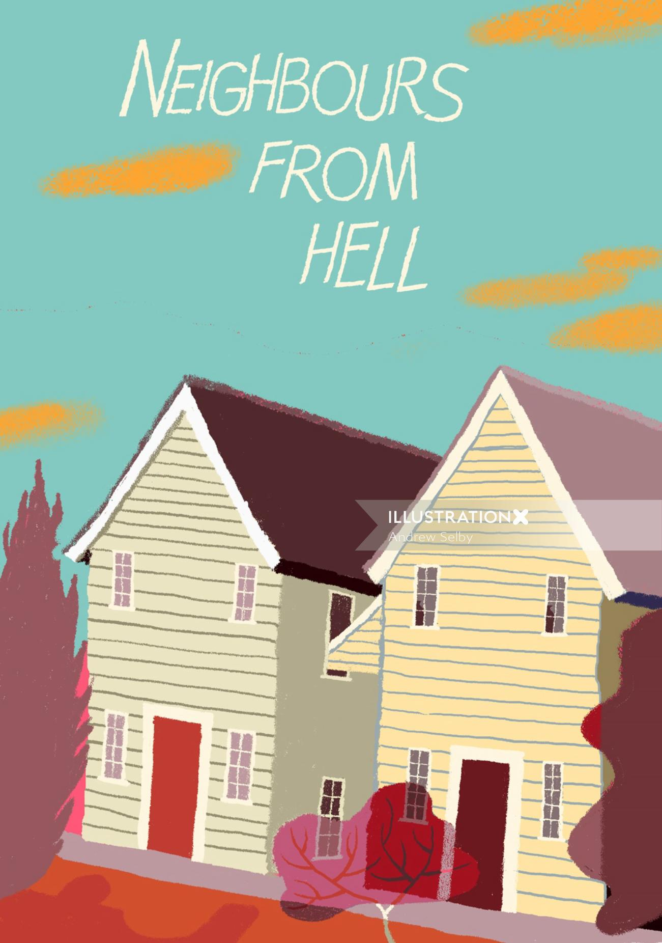 Neighbours from hell illustration