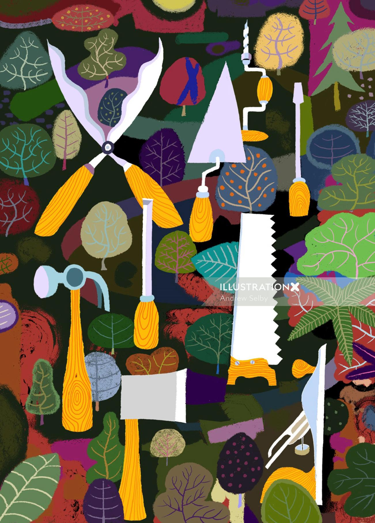 Tools in the forest