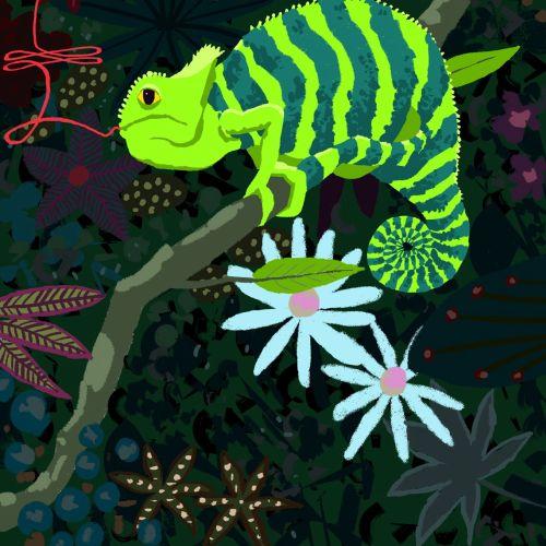 Animation of chameleon