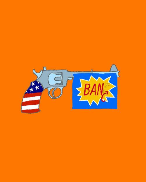 Ilustration of Ban Handguns
