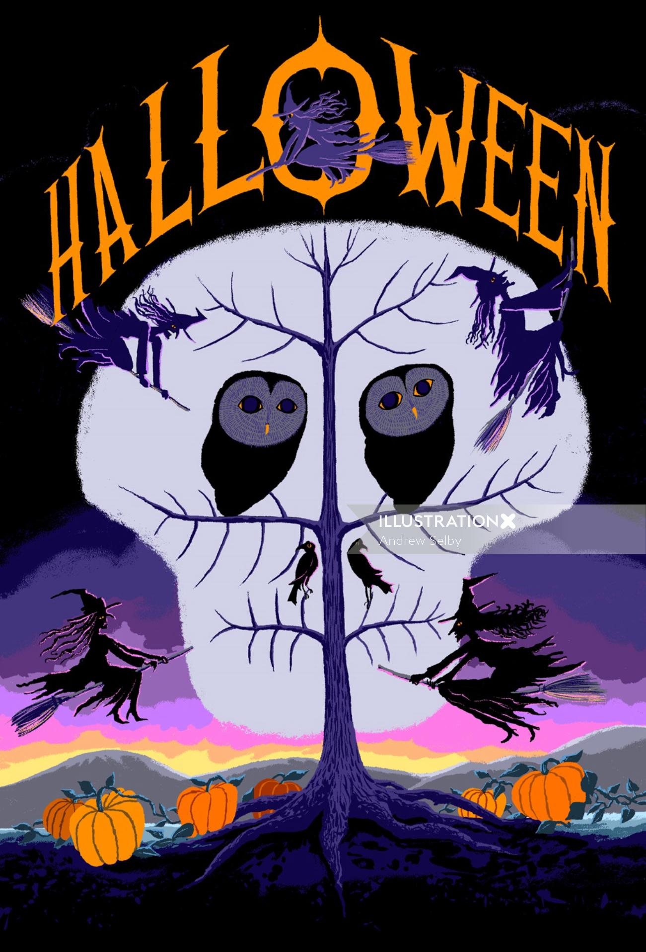 Conceptual Halloween Illustration