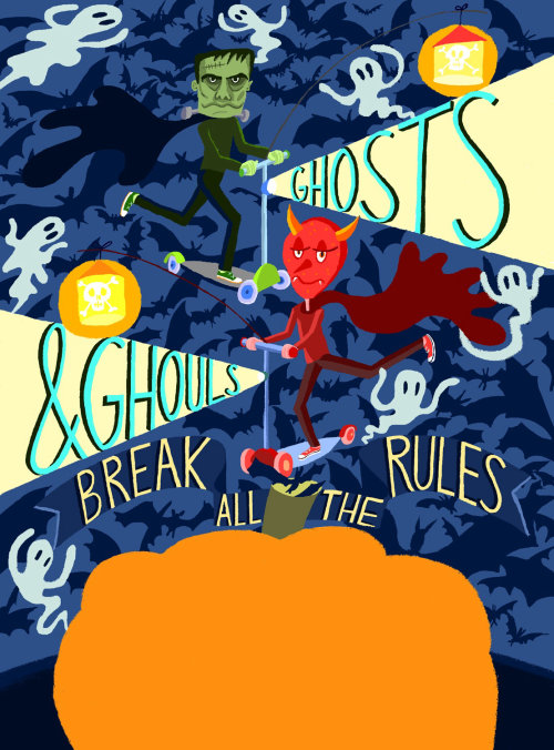 Conceptual art of Ghosts and Ghouls