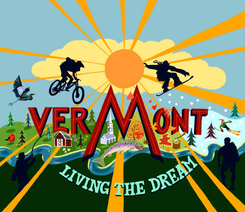 Lettering art of vermont living the dream