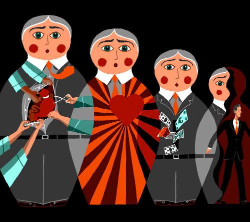 Conceptual russian dolls