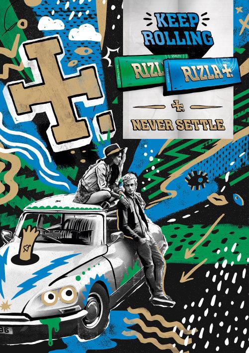 Ilustração de letras Rizla