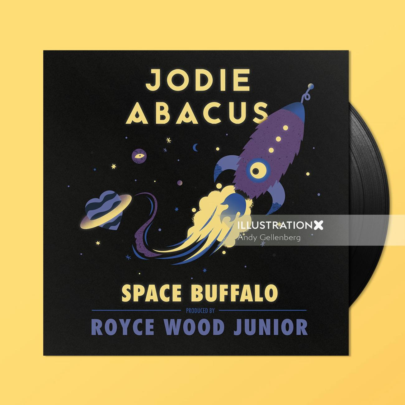 Retro Graphic space buffalo