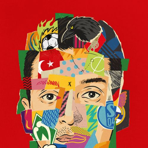 Paper Art Flags on man face