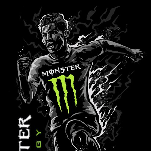 Street Art & Mural Monster Energy