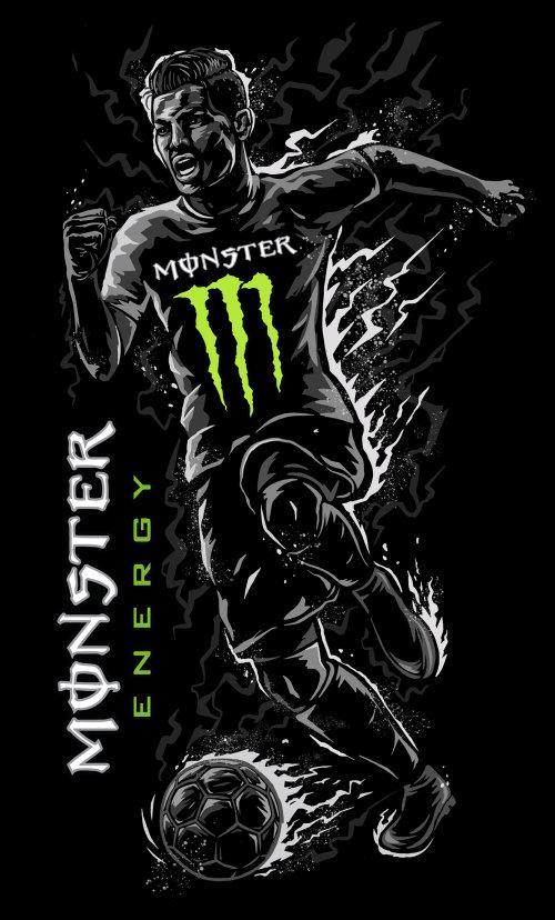 Street Art e mural Monster Energy