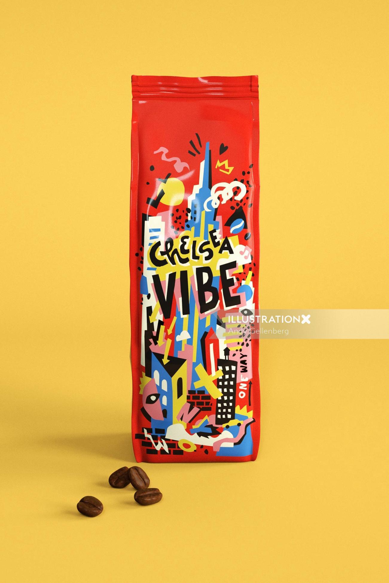 Packaging chelsea vibe coffee
