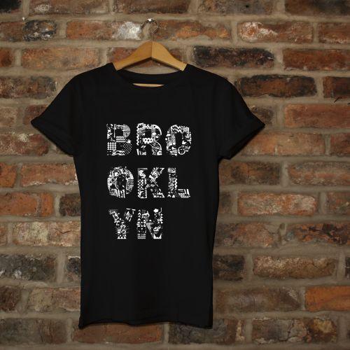 Lettering on Black tshirt Brooklyn