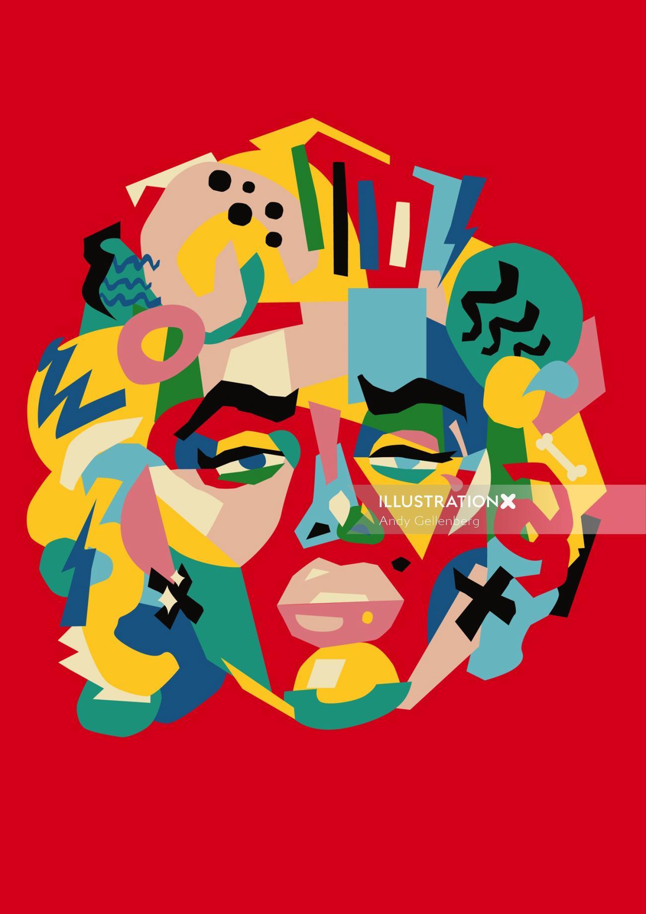 People graphic portrait