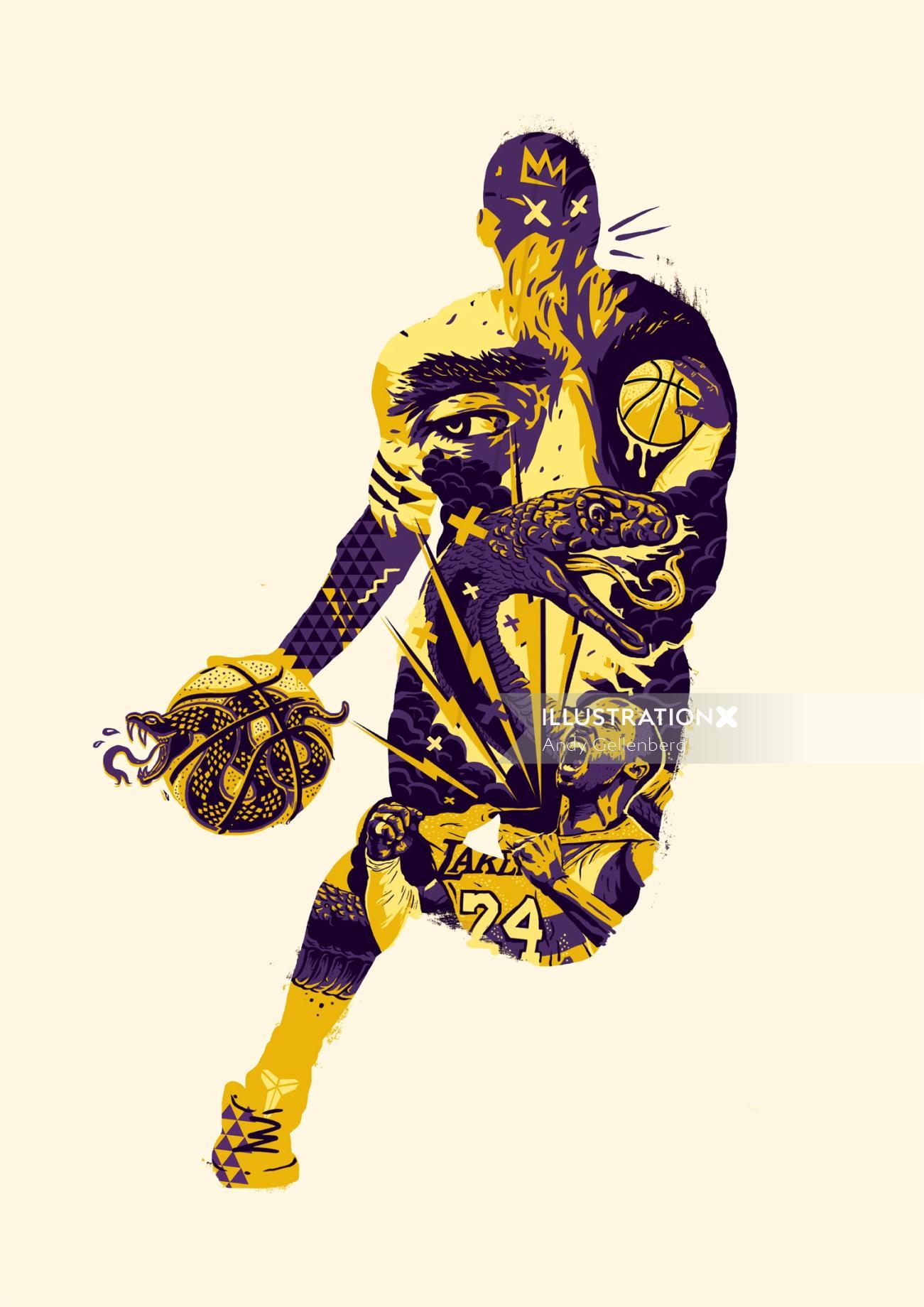 Sport & Fitness basketball player
